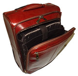 "Mancini Leather 20"" Carry-on Wheeled Laptop Business Case Luggage Cognac"