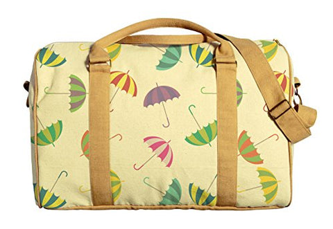 Colorful Umbrellas Printed Canvas Duffle Luggage Travel Bag Was_42