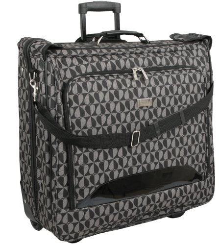 Geoffrey Beene Deluxe Rolling Garment Bag - Hearts Fashion Travel Garment Carrier With Wheels