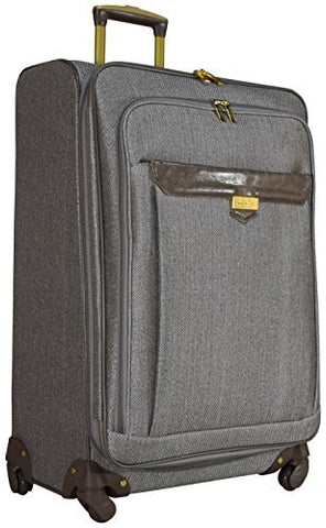 "Nicole Miller Paige Collection 24"" Expandable Luggage Spinner (24 in, Jardin Gray)"