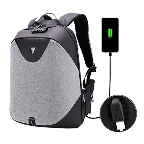 Samaz Business Laptop Backpack Anti-Theft Travel Backpack With Usb Charging Port Shoulder College
