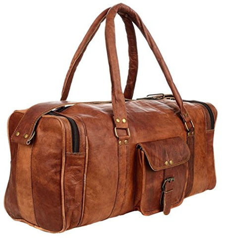 21 Inch Vintage Leather Duffel Travel Gym Sports Overnight Weekend Sale