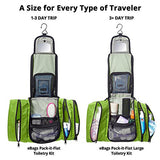 eBags Pack-it-Flat Hanging Toiletry Kit for Travel - (Grasshopper)
