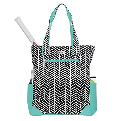 Ame & Lulu Emerson Tennis Tote (Black Shutters)