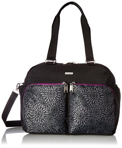 Baggallini Women'S Travel Duffel, Pewter Floral Multi