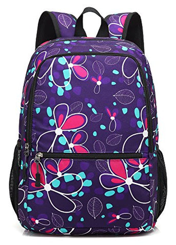 Scarleton Patterned Backpack H204016 - Purple