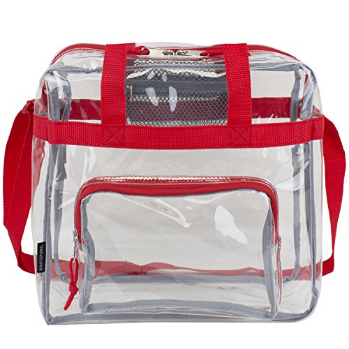 Eastsport Clear NFL Stadium Approved Tote, Sport Red