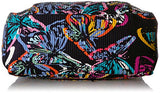 Vera Bradley Iconic Deluxe Weekender Travel Bag, Signature Cotton, Butterfly Flutter