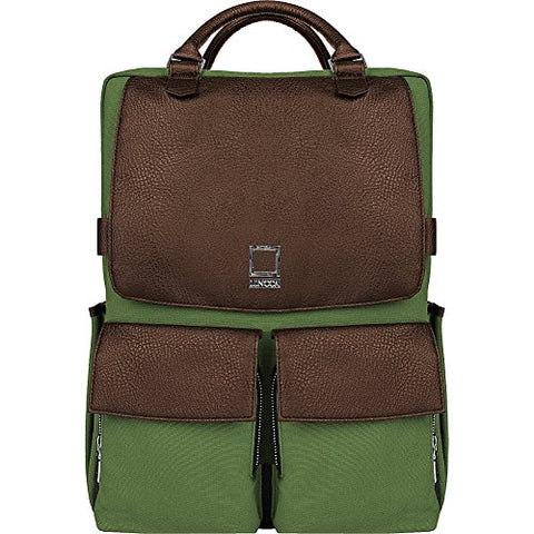 "Lencca Novo Canvas And Vegan Leather Backpack Crossover For Up To 15.6 "" Laptops (Lennovogrn)"