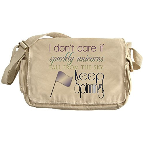CafePress - Colorguard I Dont Care If Sparkly Unicorns Fall Fr - Unique Messenger Bag, Canvas Courier Bag