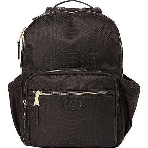 "Aimee Kestenberg Women's Python Print 15"" Fashion Backpack Black One Size"