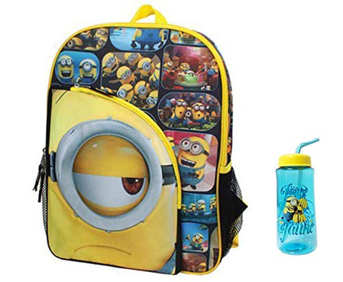New Minions Despicable of ME Backpack with Bonus Water Bottle
