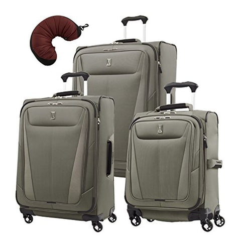 "Travelpro Maxlite 5 | 4-Pc Set | Int'L Carry-On, 25"" & 29"" Exp. Spinners With Travel Pillow"