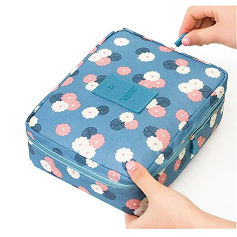 Multifunction Portable Travel Toiletry Bag - Mr.Pro Travel Makeup Cosmetic Printed Bag Beach Pouch,