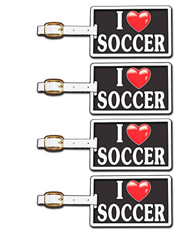 Tag Crazy I Heart Soccer Four Pack, Black/White/Red, One Size