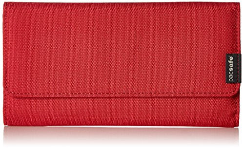 Pacsafe RFIDsafe LX200 Anti-Theft RFID Blocking Clutch Wallet, Chili