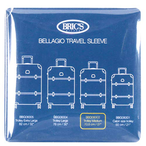 "Bric's USA Luggage Model: COVER_BELLAGIO |Size: transparent cover BBG 27"" recessed spinner 