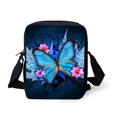 Youngerbaby Kids Casual Cross Sling Bag Cute Butterfly Print Design Shoulder Bag