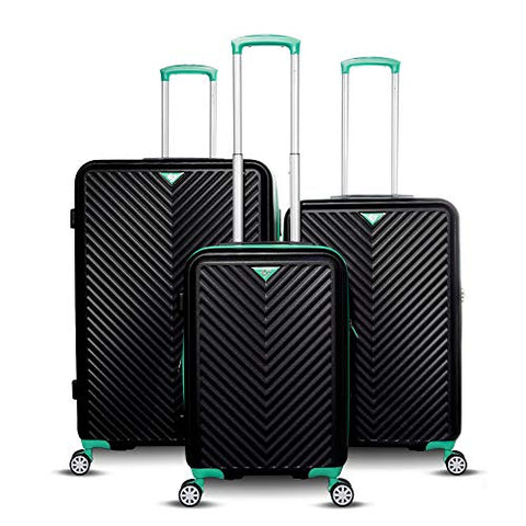 Gabbiano Luggage The Explorer Collection 3-Piece Hardside Spinner Set
