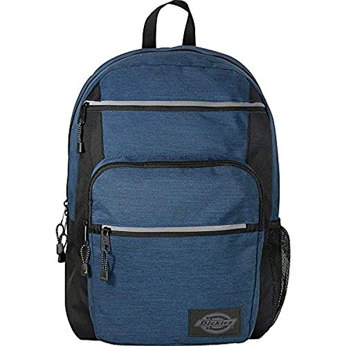 Dickies Double Deluxe Backpack Navy Heather Ripstop & Knit Cap Bundle