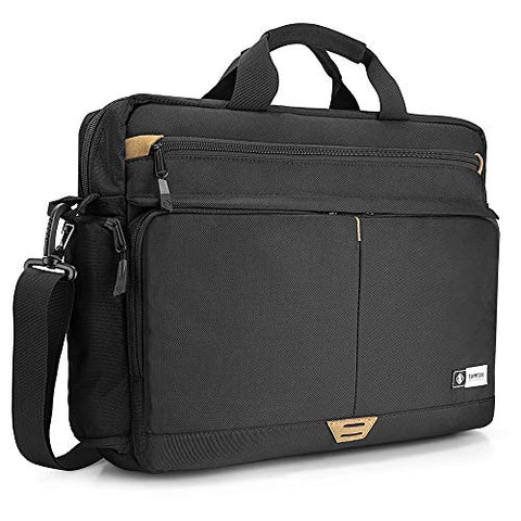 tomtoc 15.6 Inch Laptop Shoulder Bag with 360º Protective Laptop Compartment Multifunctional Messenger Bag Briefcase Fit for 13-15.6 Inch HP Dell Acer Lenovo Asus Samsung Notebook Tablet,