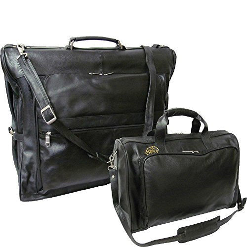 AmeriLeather Leather Two Piece Set Traveler (Black)