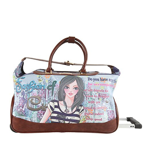 Nicole Lee Teresa 20 Inch Rolling Duffle, Dolly, One Size