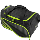 Fila Lasers Small Sports Duffel Gym Bag, Black/Neon Lime, One Size