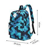 S Kaiko Modern Style Canvas Backpack Casual Daypacks School Backpack for Women and Men Laptop Backpack Daypack Rucksack Traveling Backpack for Hiking and Go to School (purple)