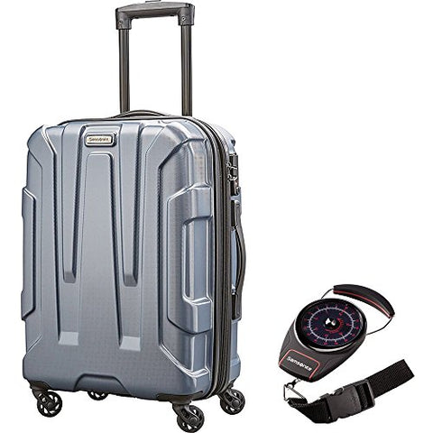 "Samsonite 92794-1101 Centric Hardside 20"" Carry-On Luggage, Blue Slate With Portable Luggage Scale"