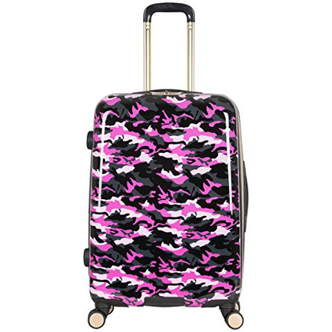 "Aimee Kestenberg Women's Sergeant 24"" Camo Printed Hardside Expandable 8-Wheel Spinner Checked"