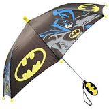 DC Comics Little Boys Batman Character Rainwear Umbrella, Black/Yellow, Age 3-7