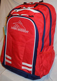 High Sierra Blaise Backpack With 15In. Laptop Pocket, Crimson/True Navy/White