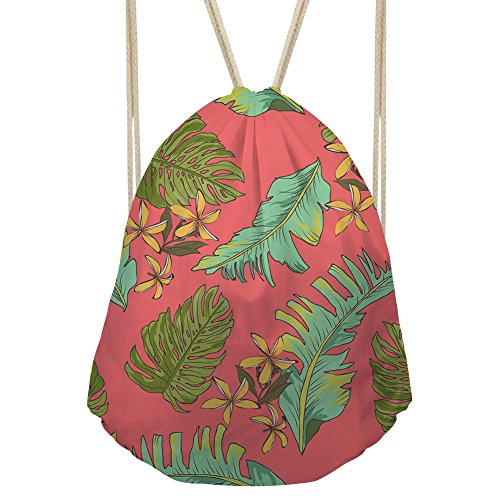 Bigcardesigns Drawstring Backpack Tropical Style Runner Sport Bag