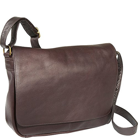 Le Donne Leather Flap Over Shoulder Bag (Cafã©)