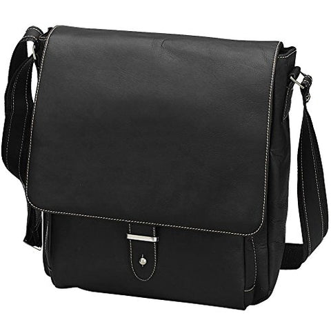 Bellino Columbia Vertical Laptop Messenger, Black