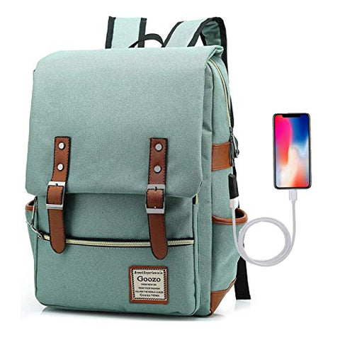 Adual Casual Laptop Backpack with USB Charging Port, Water Resistant travelling Backpack College