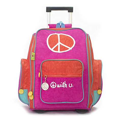 Biglove Rolling Kids Backpack Peace, Multi-Colored, One Size