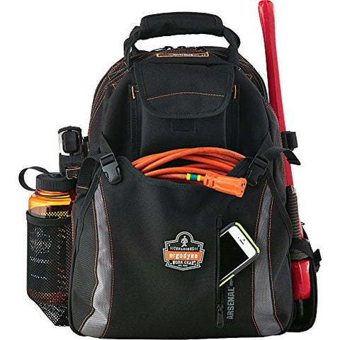 Ergodyne 5843 Tool Backpack Dual Compartment (Black)