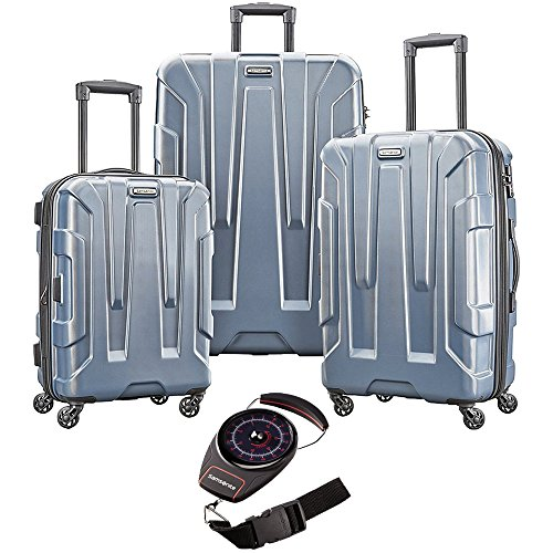 089d7eb2a Samsonite Centric Nested Hardside Luggage Set Blue Slate With Luggage Scale