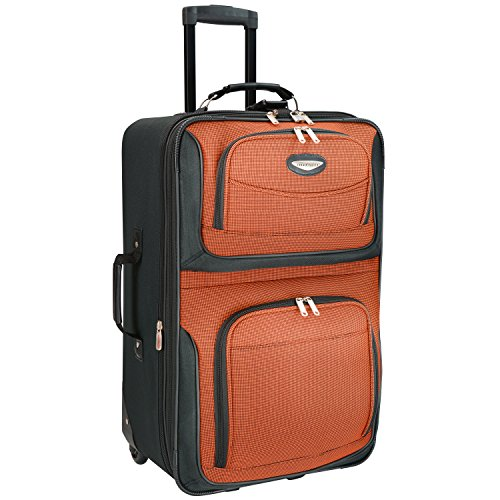 Travelers Choice Travel Select Amsterdam 25-Inch Expandable Rolling Upright, Orange