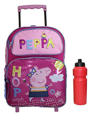New Peppa Pig Rolling Backpack