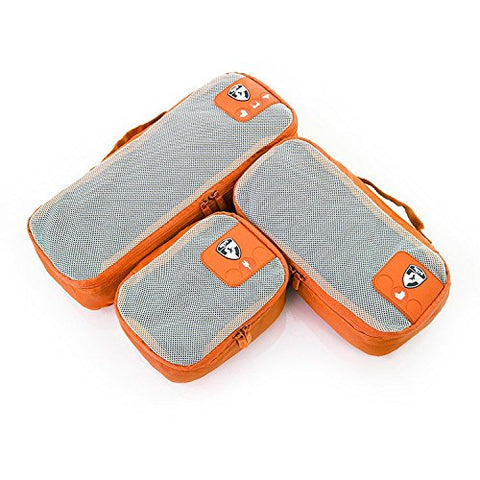 Heys Pack ID 3 pc Slim Packing Cube Set Orange