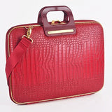 Bombata Gold Cocco 15-Inch Briefcase (Red)