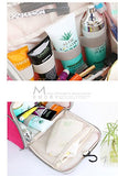 Fakeface Large Waterproof Nylon Mesh Toiletry Bag Tote Travel Makeup Cosmetics Portable Organizer