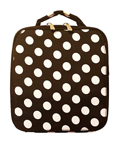 Black Polka Dot Back To School Lunch Tote