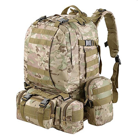 "Aw Cp Camouflage Camping Bag 23X19X5.5"" Oxford Nylon Backpack Travel Hike Camp Climb Military"