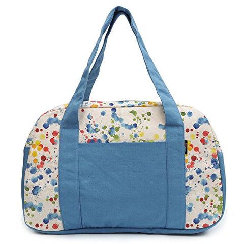 Women'S Hand Painted Splashes Printed Canvas Duffel Travel Bags Was_19