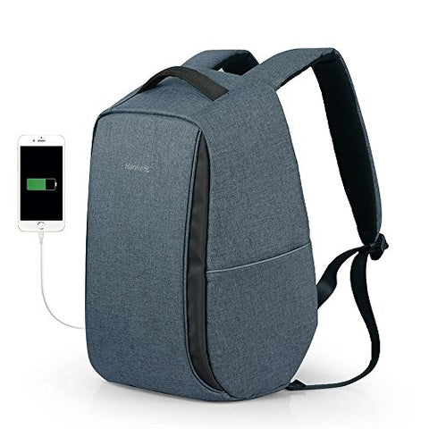 Hanke Anti-Theft Business Laptop Smart Backpack Light Reflective Student Bag With Usb Charger