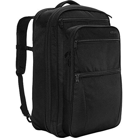 "ebags etech 3.0 Carry-On Travel Backpack With Expandable Sides - Fits 17"" Laptop - (Black)"